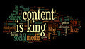 Content is king conept in word tag cloud - PhotoDune Item for Sale