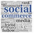 Social media commerce conept in word tag cloud - PhotoDune Item for Sale