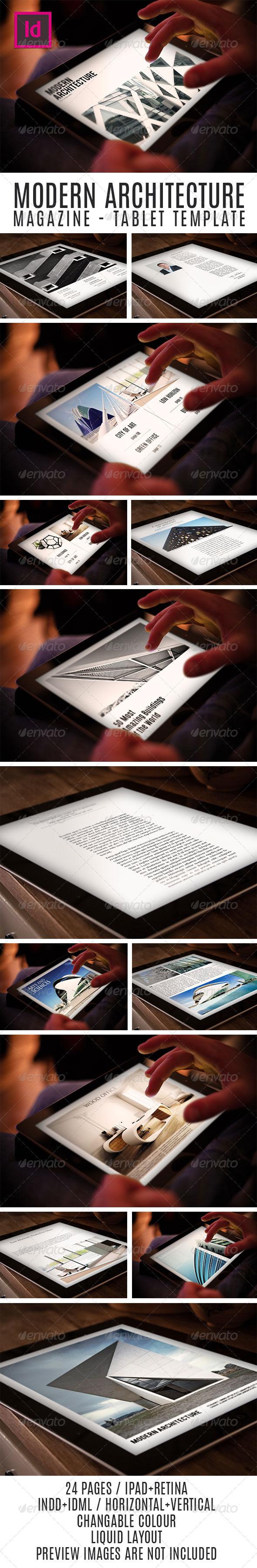 GraphicRiver Tablet Modern Architecture Magazine Template 7806579