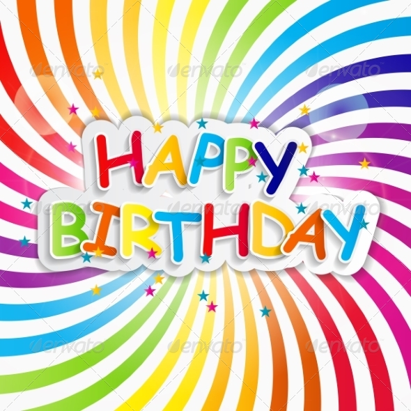 GraphicRiver Happy Birthday Card Vector Illustration 7838486