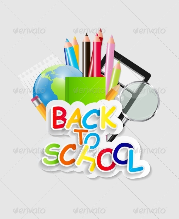 GraphicRiver Back to School Concept Vector Illustration 7838643