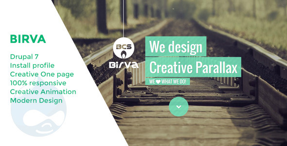 Image of Birva - Creative One Page Drupal Theme