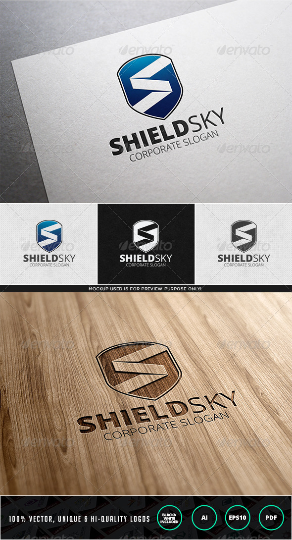 GraphicRiver Shieldsky Logo Template 7838760
