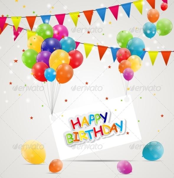 GraphicRiver Happy Birthday Card Illustration 7838818