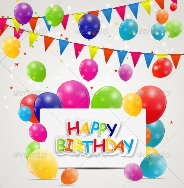 GraphicRiver Happy Birthday Card Illustration 7838825