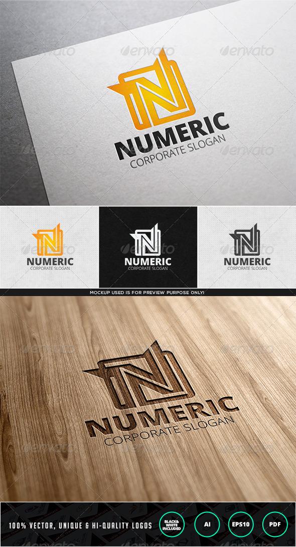 GraphicRiver Numeric Logo Template 7838839
