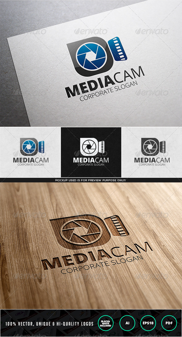 Media Cam Logo Template - Objects Logo Templates
