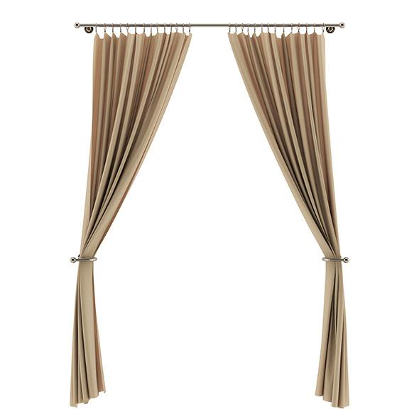 Beige Curtains - 3DOcean Item for Sale