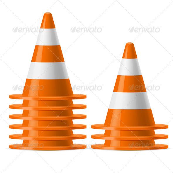 GraphicRiver Piles of Traffic Cones 7839477
