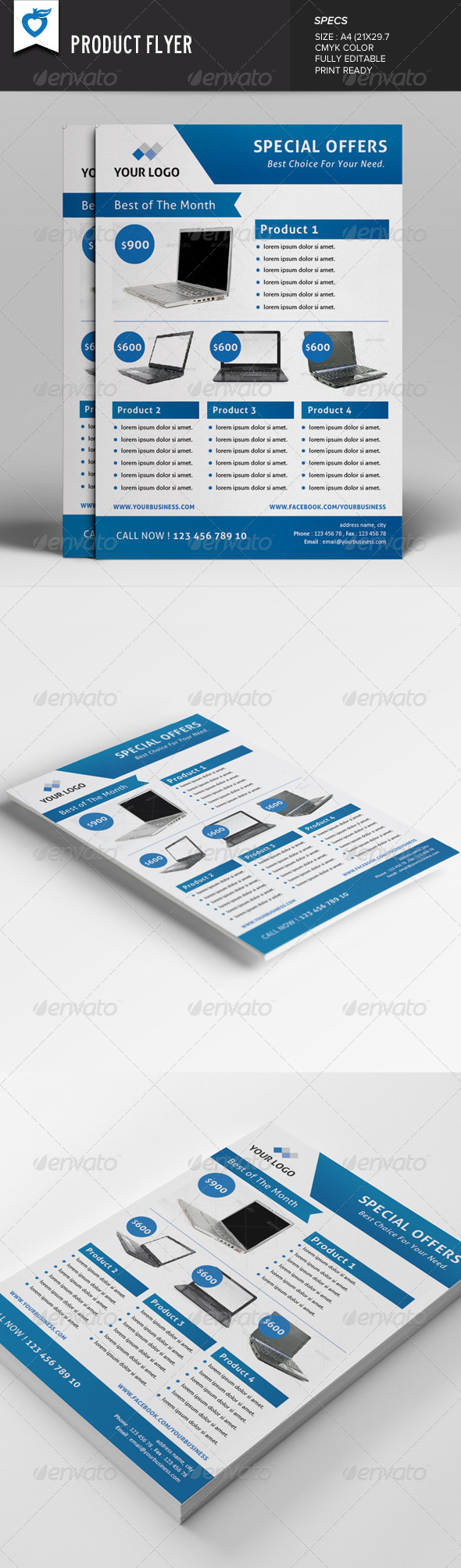 GraphicRiver Product Flyer v2 7811829