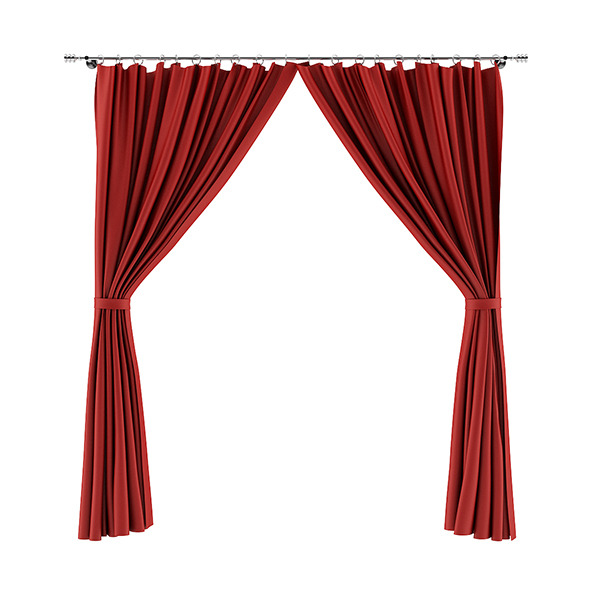 Red Curtains - 3DOcean Item for Sale
