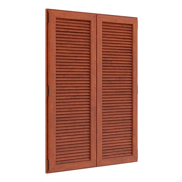 Wooden External Shutters - 3DOcean Item for Sale