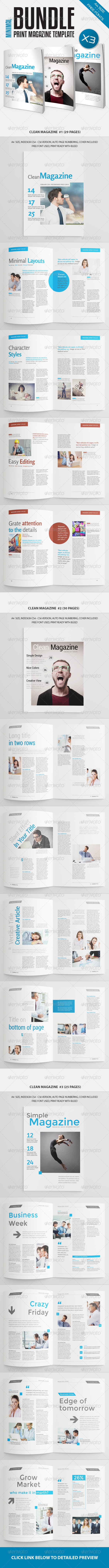 GraphicRiver Minimal Magazine Bundle Vol4 7817915