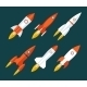 Rocket Icons Start Up and Launch Symbol - GraphicRiver Item for Sale