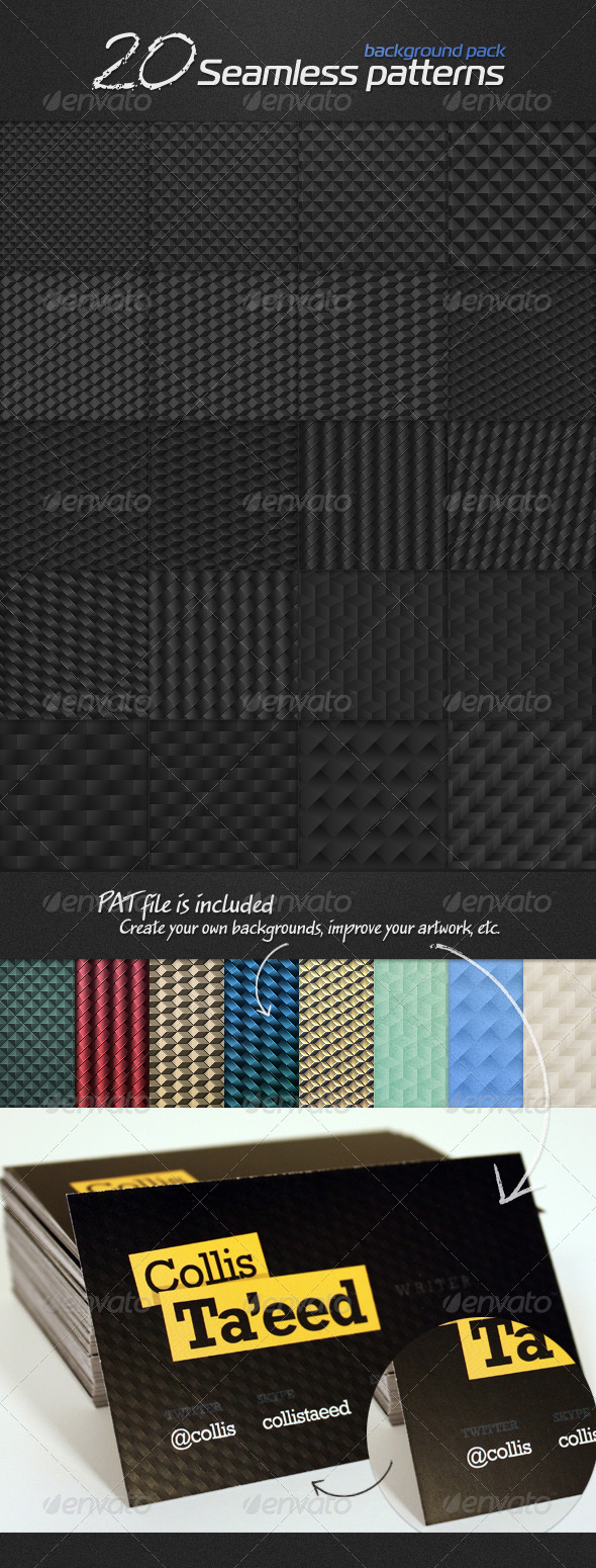 GraphicRiver 20 seamless patterns background pack 7812852
