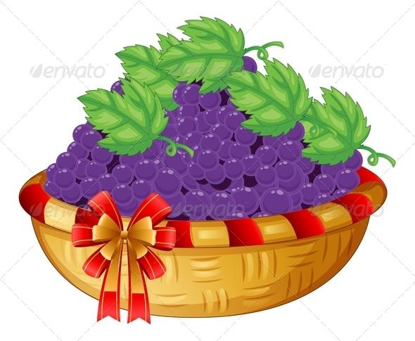 GraphicRiver A Basket of Grapes 7839834