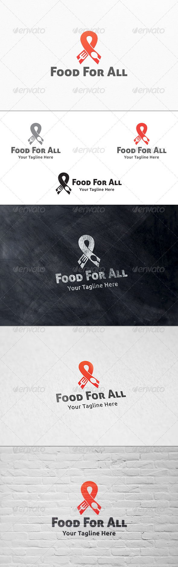 Food & Charity Logo Template