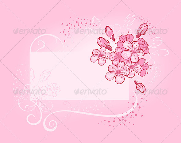 GraphicRiver Banner with Flowering Cherry 7808836