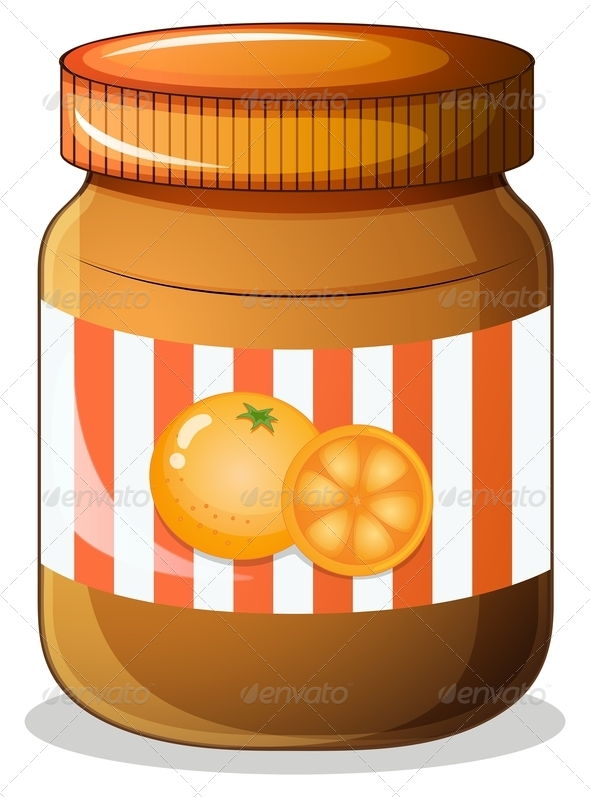 Bottle of Orange Jam