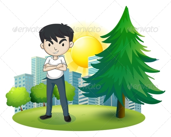 GraphicRiver An Angry Man Near the Pine Tree 7839895
