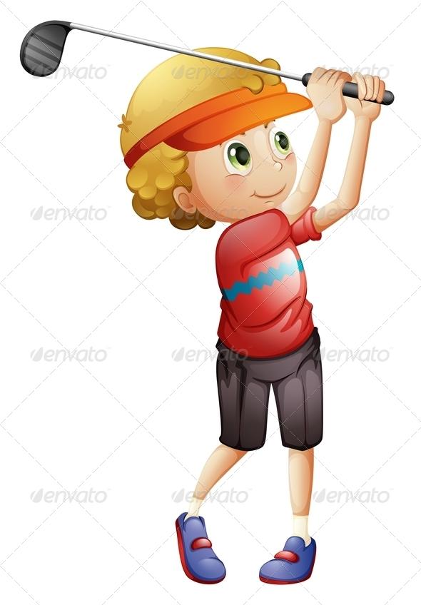 GraphicRiver Boy Golfing 7839901