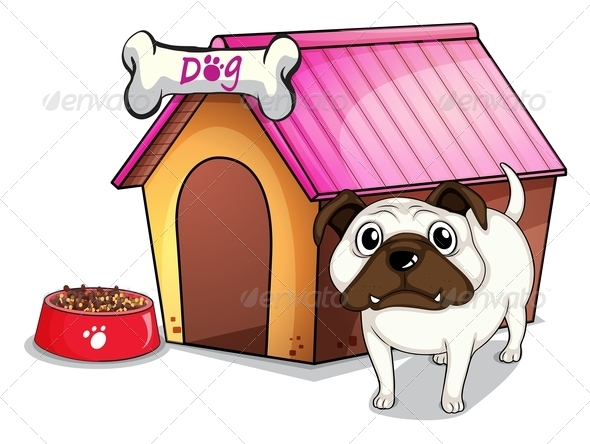GraphicRiver Dog Outside the Doghouse 7839909