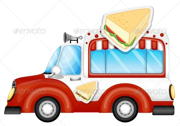 GraphicRiver Vehicle Selling Sandwiches 7839945