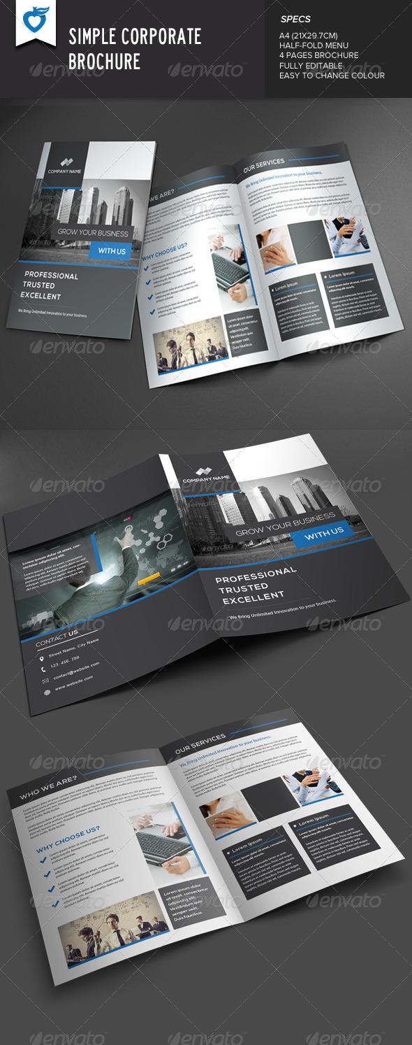 GraphicRiver Simple Corporate Brochure 7840119