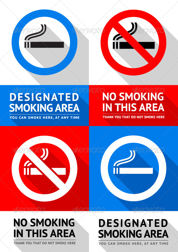 GraphicRiver No Smoking Labels 7840146