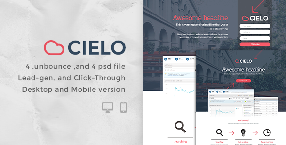 Cielo - Bundle Unbounce pages - Unbounce Landing Pages Marketing