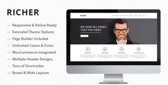 ThemeForest Richer Responsive Multi-Purpose Theme 7840229
