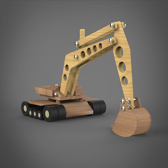 Toy JCB Machine - 3DOcean Item for Sale