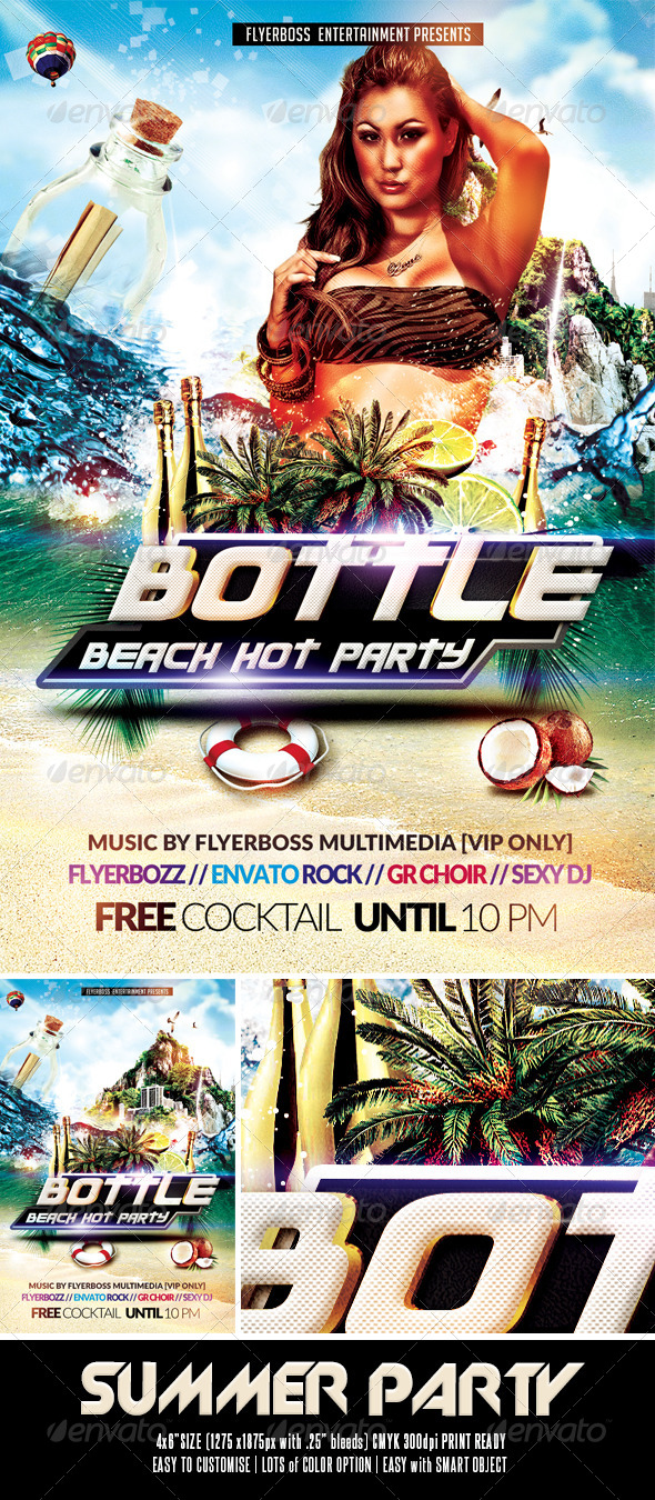 GraphicRiver Summer Party Flyer 7840473