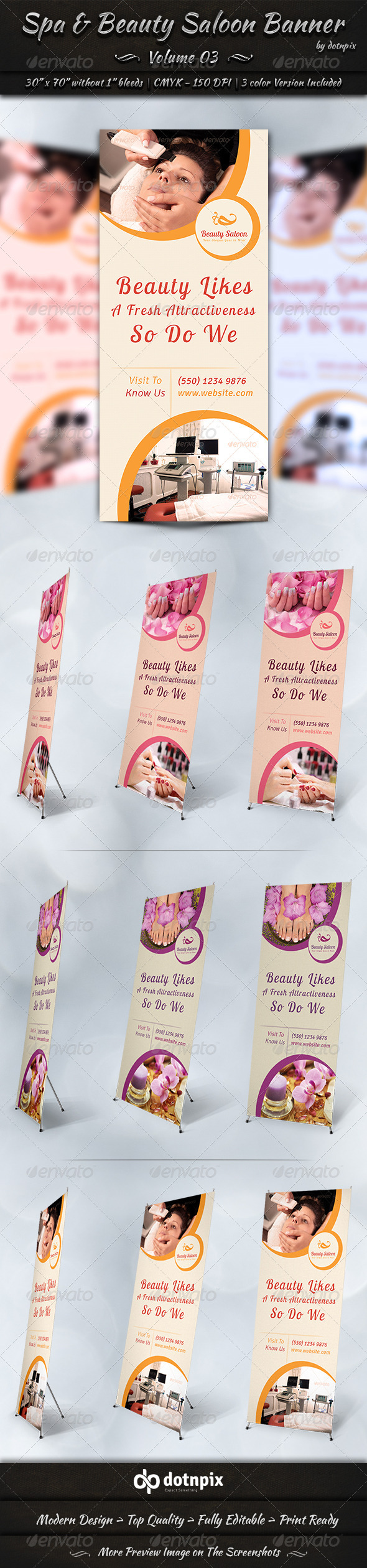 GraphicRiver Spa & Beauty Saloon Banner Volume 3 7840615
