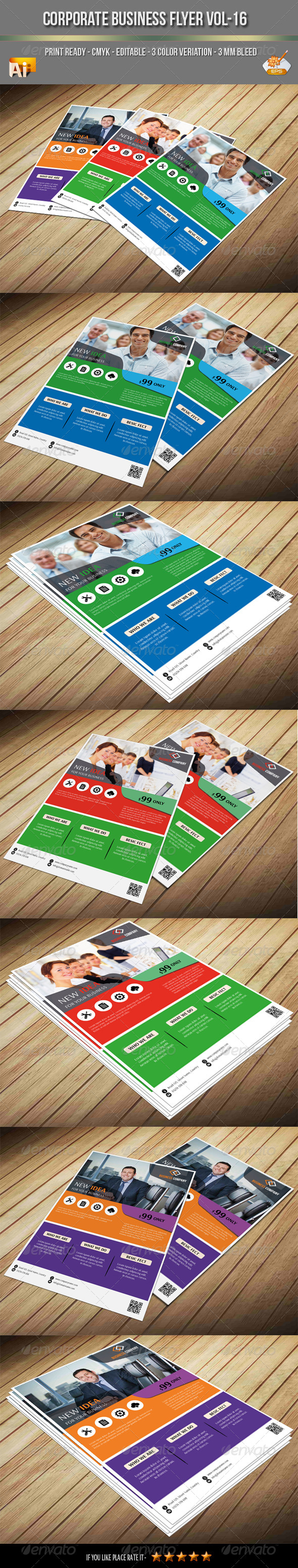GraphicRiver Corporate Business Flyer Vol-16 7840783