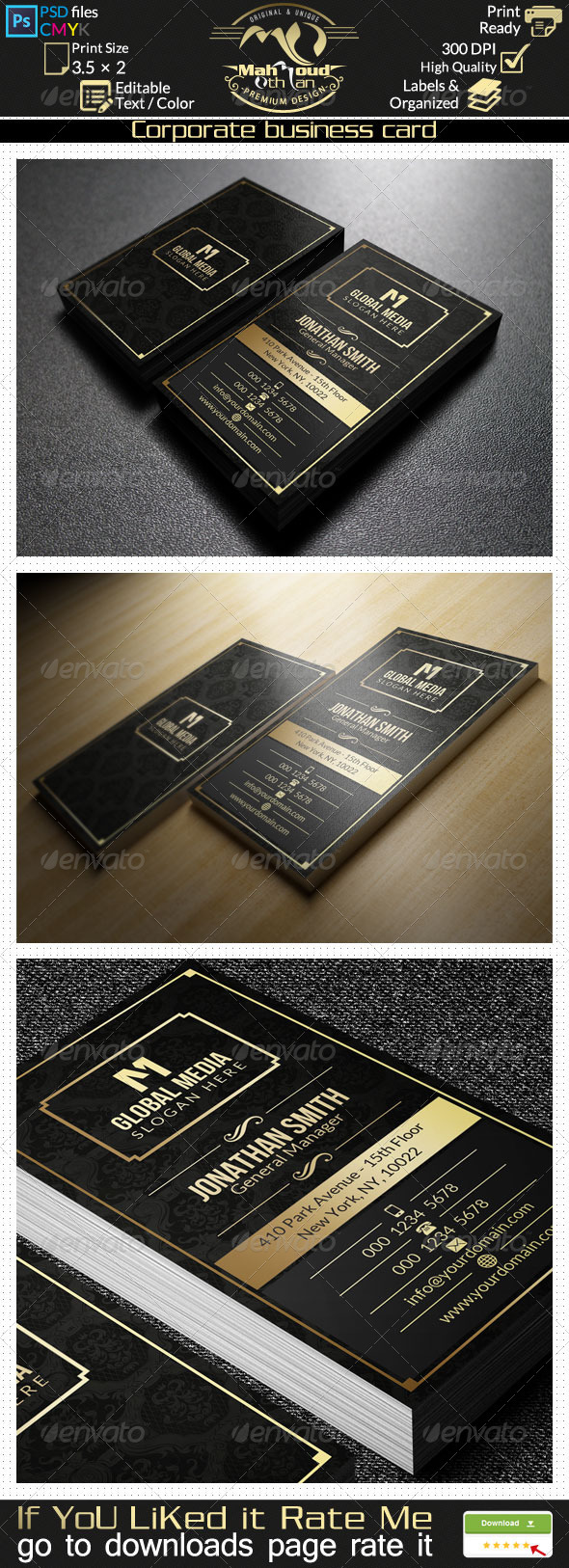 GraphicRiver Gold Corporate Business Card 27 7840916