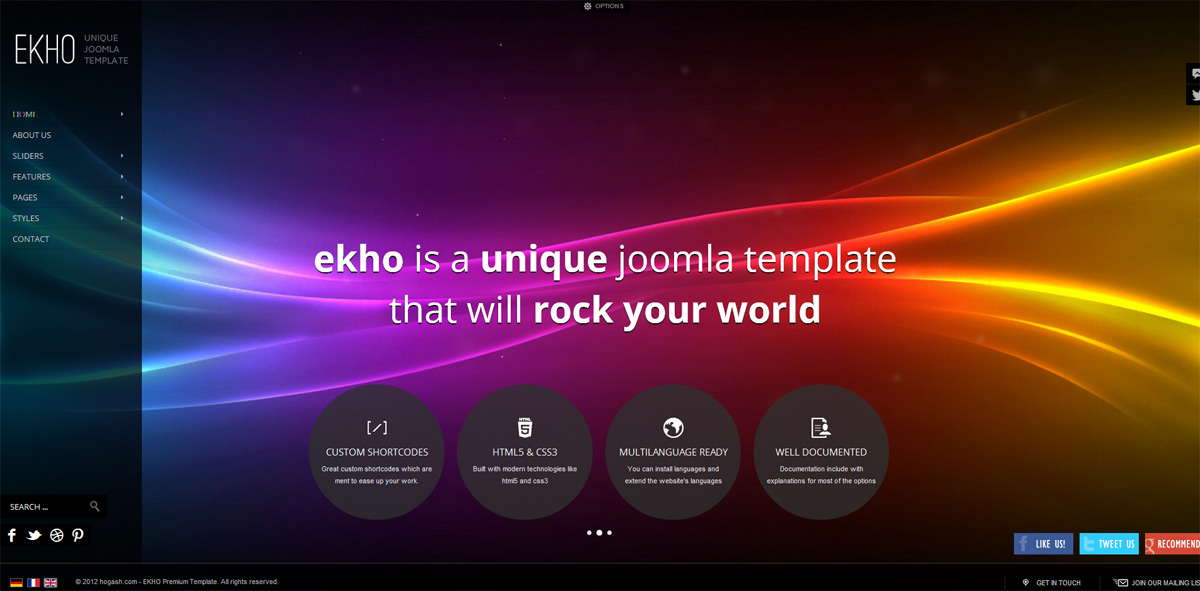 EKHO Responsive Unique Joomla Template - GENERAL PAGE 8
