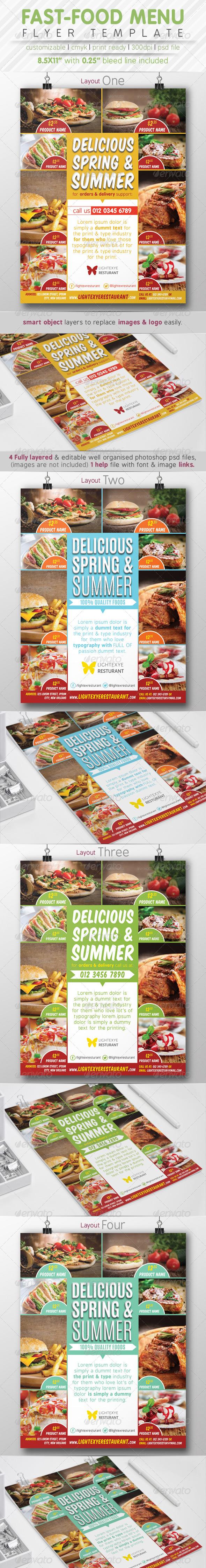 GraphicRiver Fast Food Menu Flyer Ads 7841249
