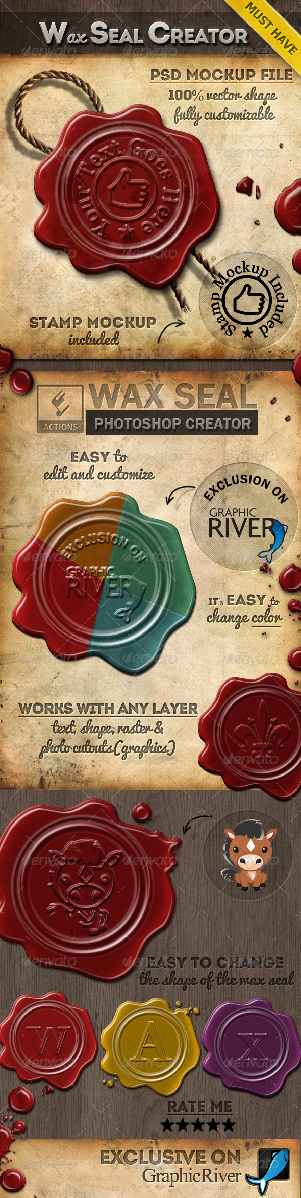 GraphicRiver Wax Stamp Seal Photoshop Creator 7841278