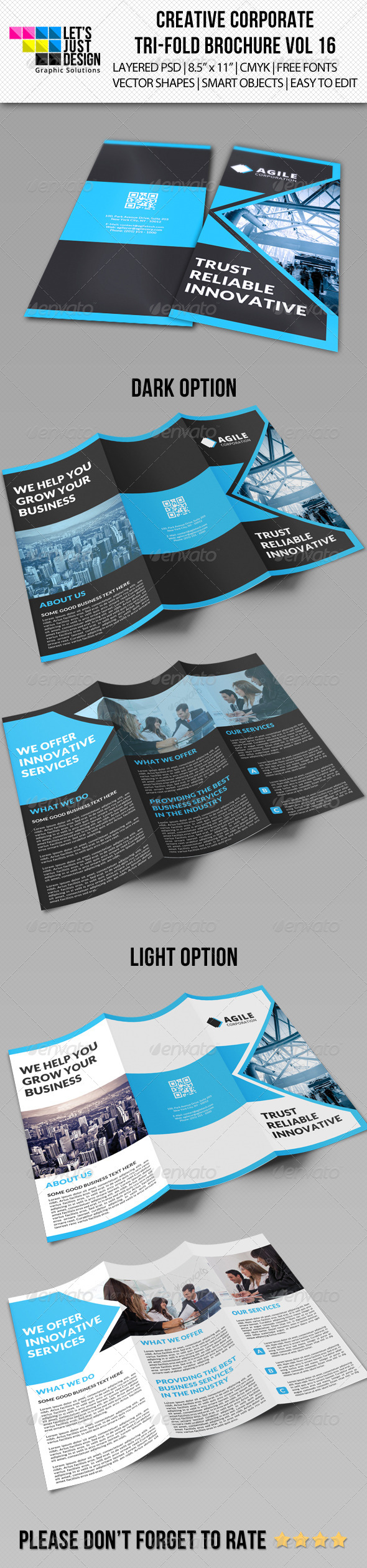 GraphicRiver Creative Corporate Tri-Fold Brochure Vol 16 7841363