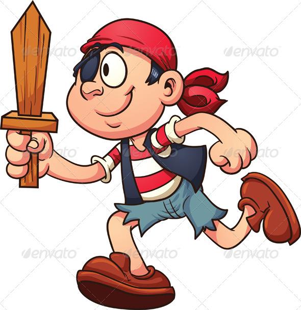 GraphicRiver Pirate Kid 7841468