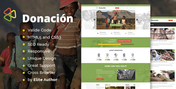 Donation Responsive HTML Template - Charity Nonprofit