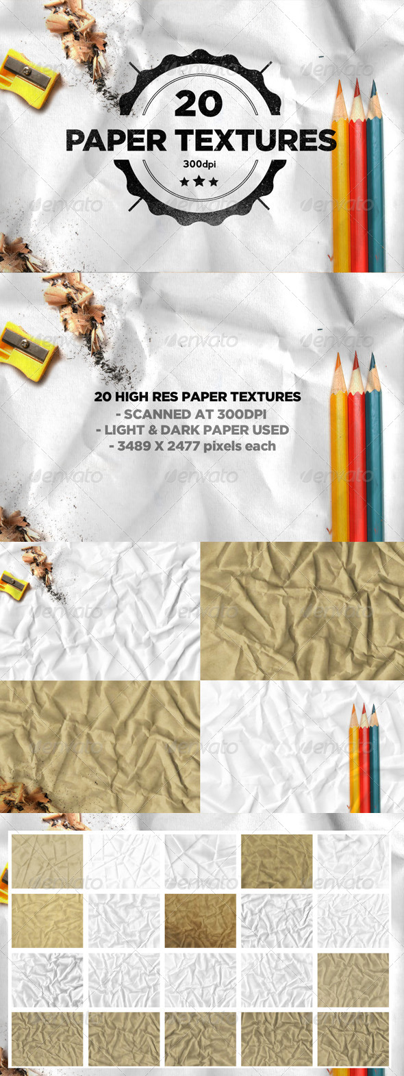 GraphicRiver 20 Folded Paper Textures 7841672