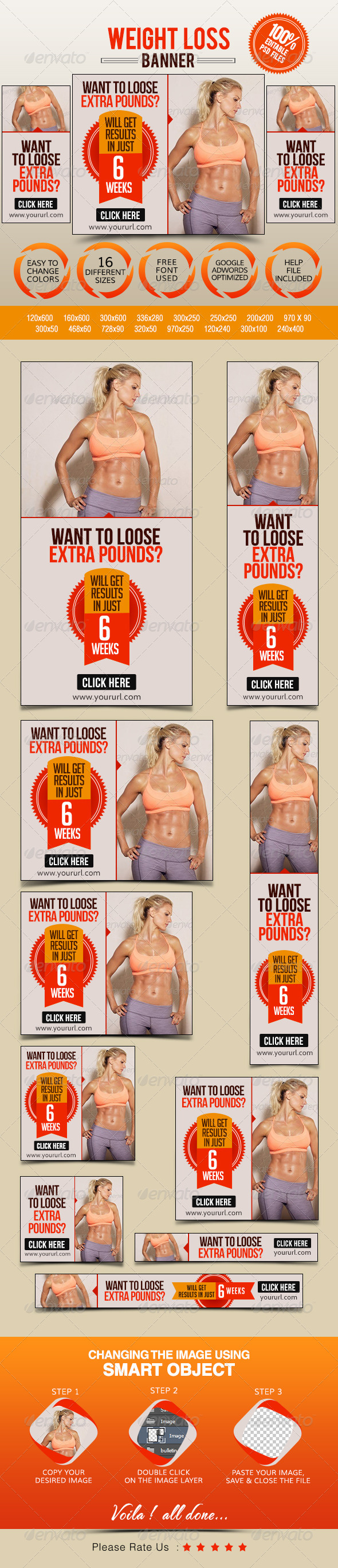 GraphicRiver Weight Loss Banners 7841716