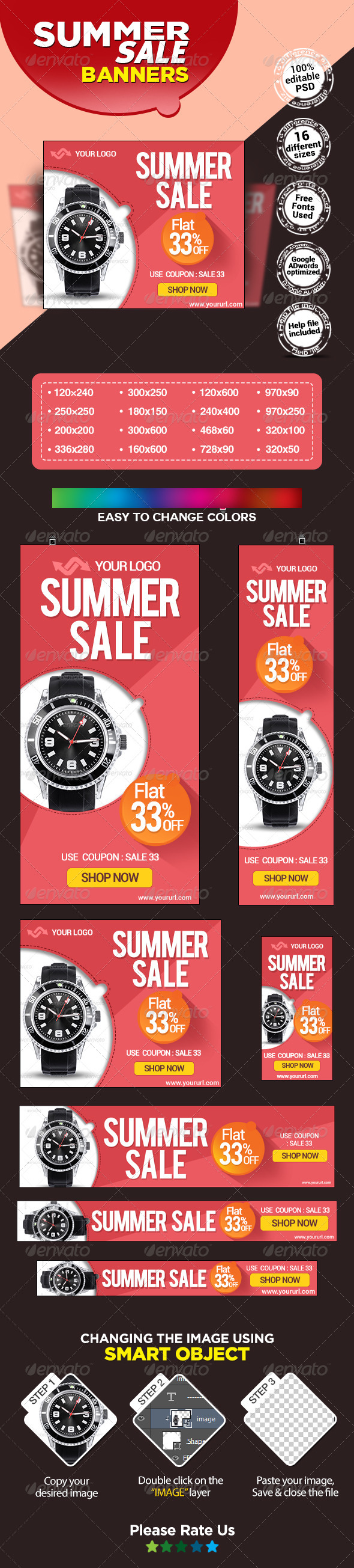 GraphicRiver Summer Sale Banners 7841767