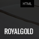 RoyalGold - Unique HTML5 Site Template - ThemeForest Item for Sale
