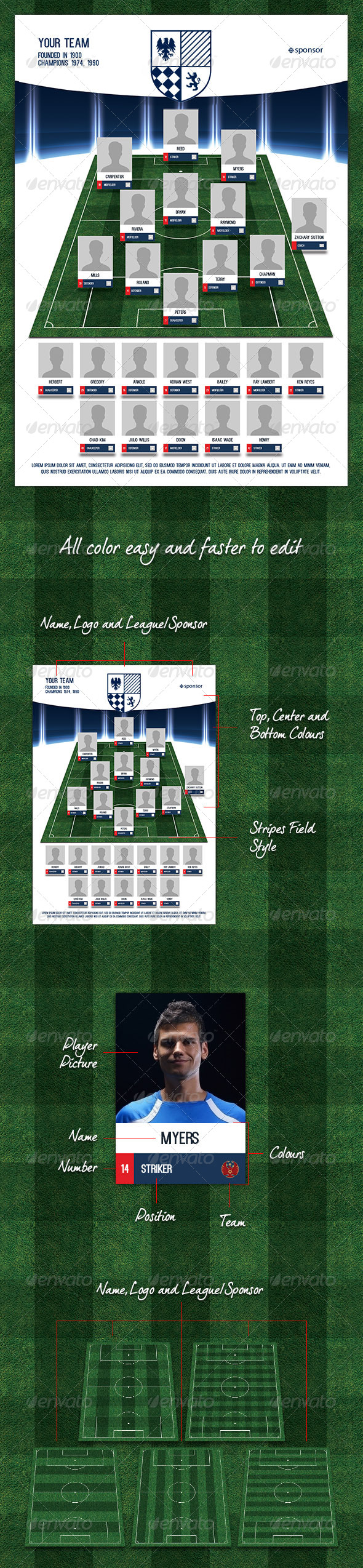 GraphicRiver Team Selection Players Soccer 7676414