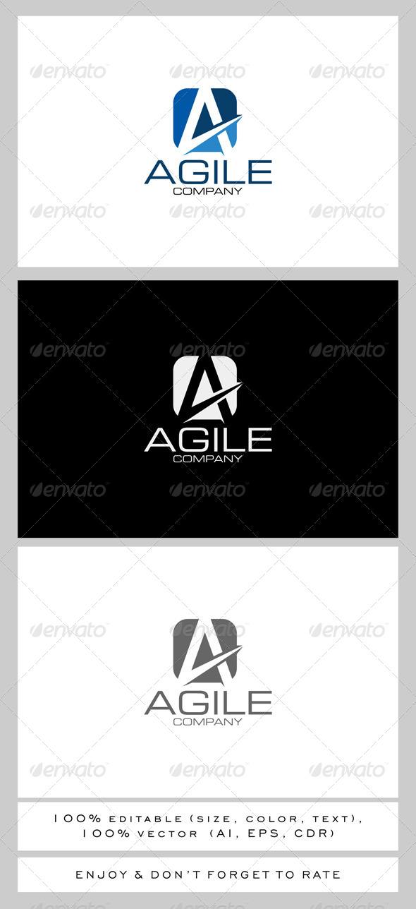 Agile Letter A Logo