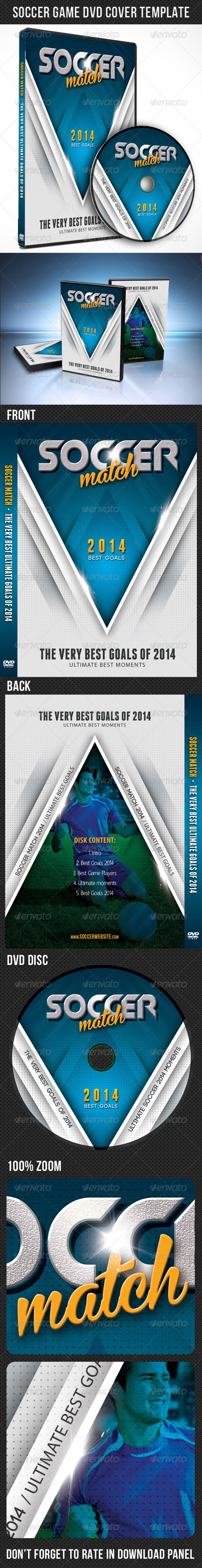 GraphicRiver Soccer Match 2014 DVD Cover Template 7842402