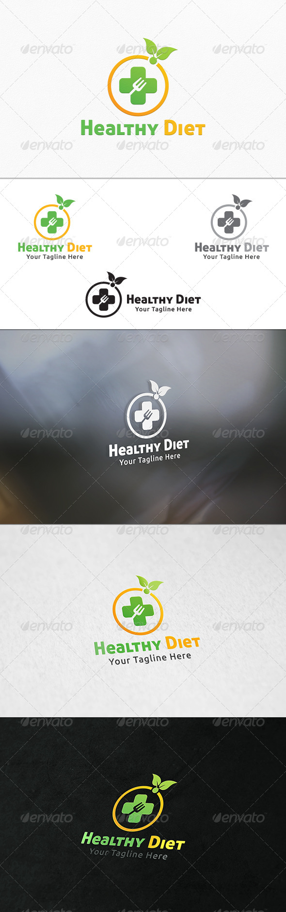 GraphicRiver Healthy Diet Logo Template 7842404